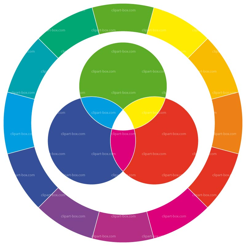 CLIPART COLOR WHEEL.