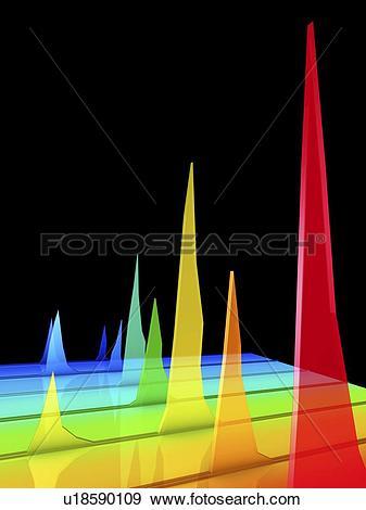 Stock Photograph of Chromatogram, 3D View u18590109.