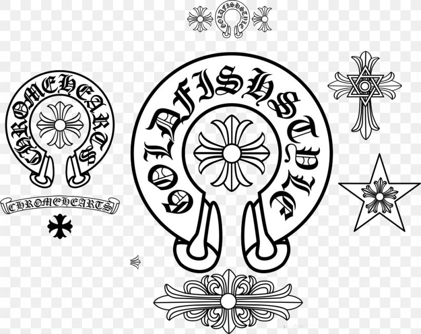 Chrome Hearts Black And White, PNG, 1024x813px, Chrome.