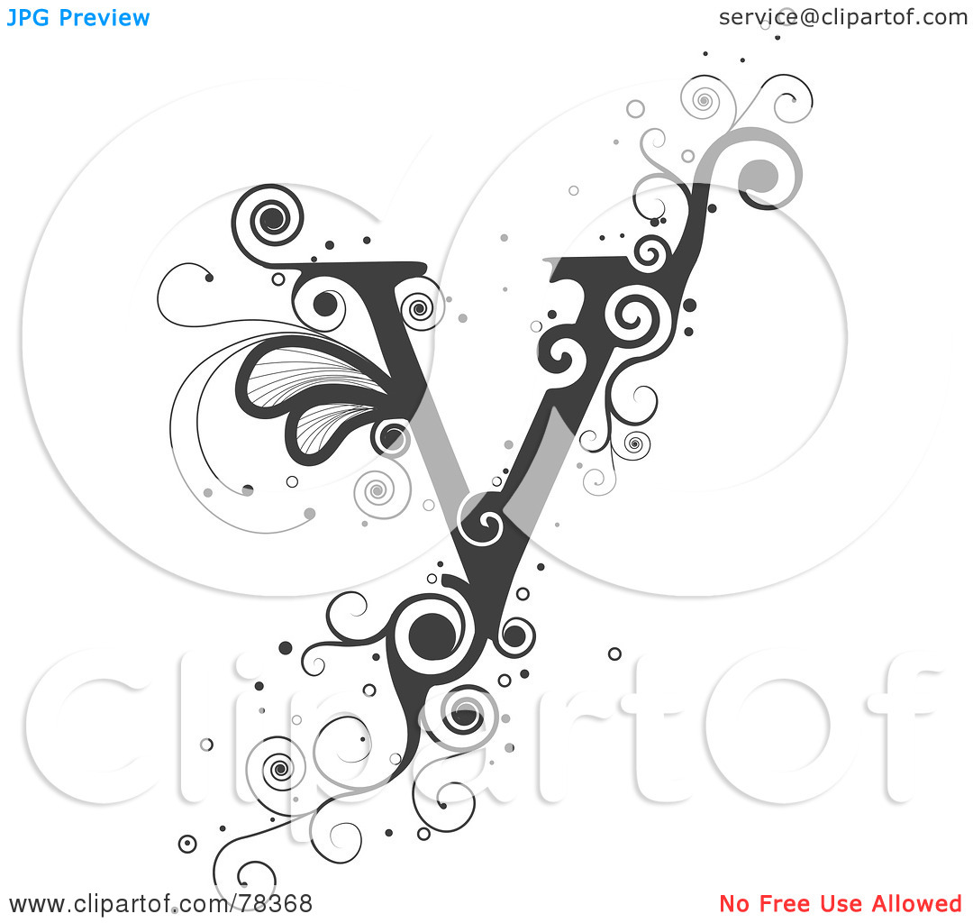 Letter V High Resolution Clipart.