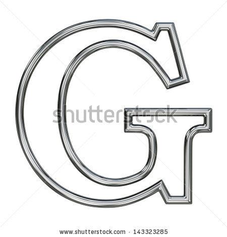 Alphabet Symbol G Chrome Pipe Outline Stock Illustration 143323285.
