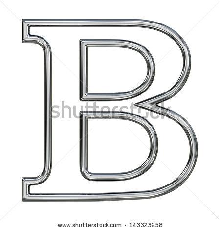 Alphabet Symbol B Chrome Pipe Outline Stock Illustration 143323258.