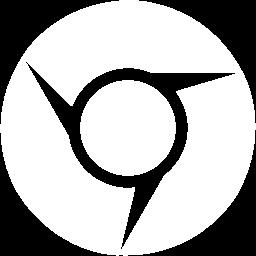 Free White Google Chrome Icon.