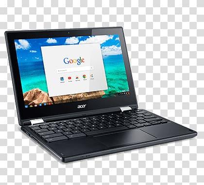 Black Acer laptop , Acer Chromebook Laptop transparent background.