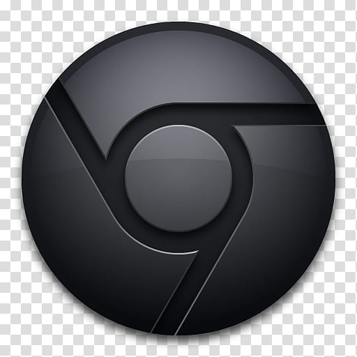 Chrome Icon Blue Black MkII, ChromeBlackSolo, Google.