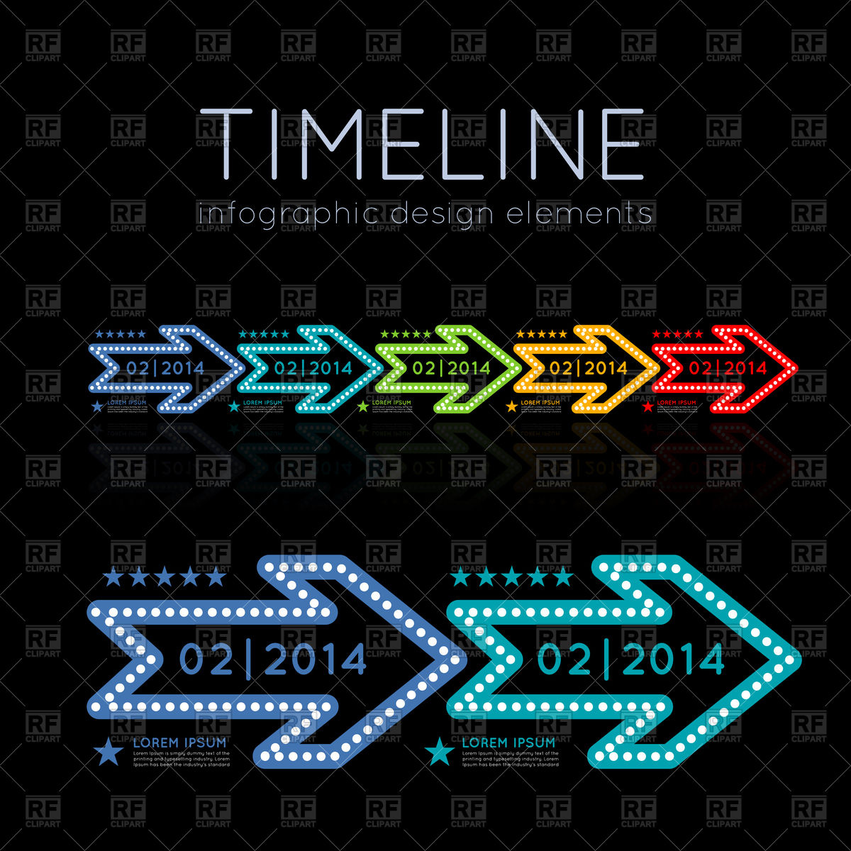 Timeline arrow infographics Vector Image #75471.