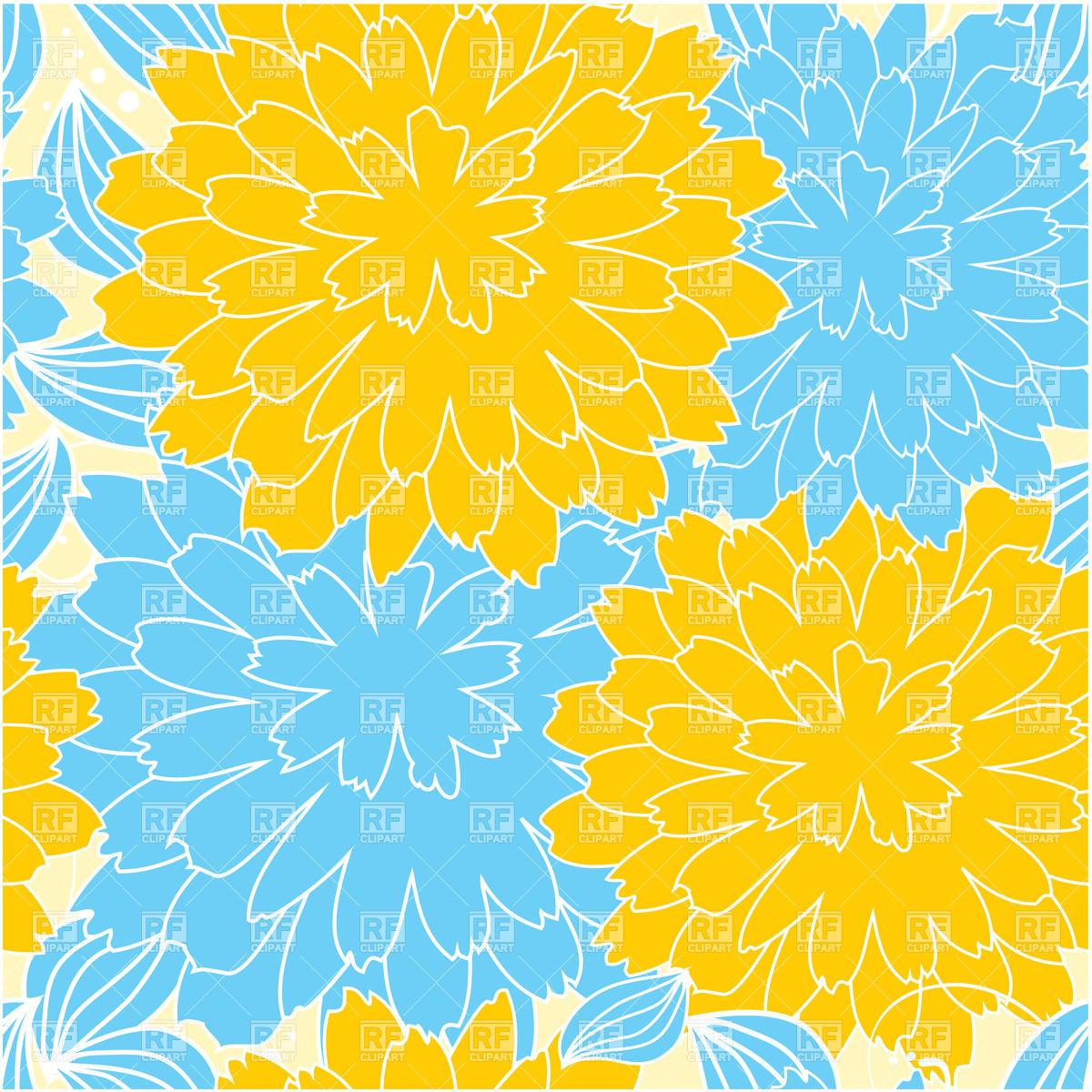 Yellow Chrysanthemum Clip Art.