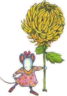 Chrysanthemum book clipart.