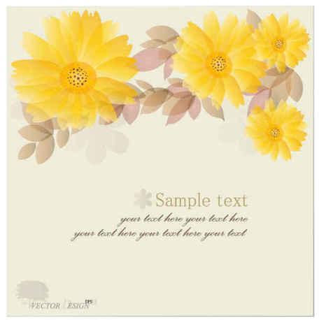 Yellow Chrysanthemum Vector Backgrounds, free vector.