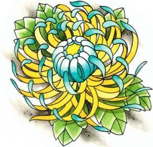 Flowers For > Japanese Chrysanthemum Tattoo.