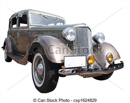 Stock Photographs of 1934 Chrysler Plymouth Deluxe isolated.