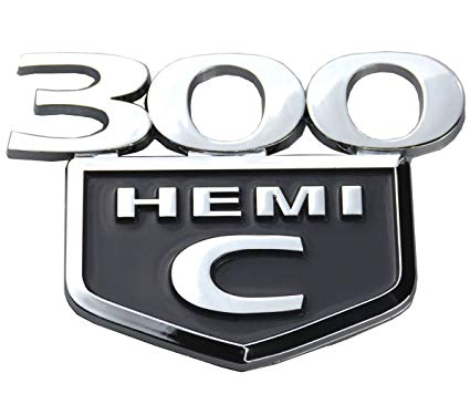 Aimoll 1PC 300C HEMI Emblem Badge Trunk Decklid Replacement for Chrysler  300 C HEMI 2005 2006 2007 2008 2009 2010.