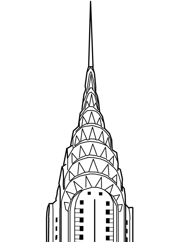 chrysler building drawing.
