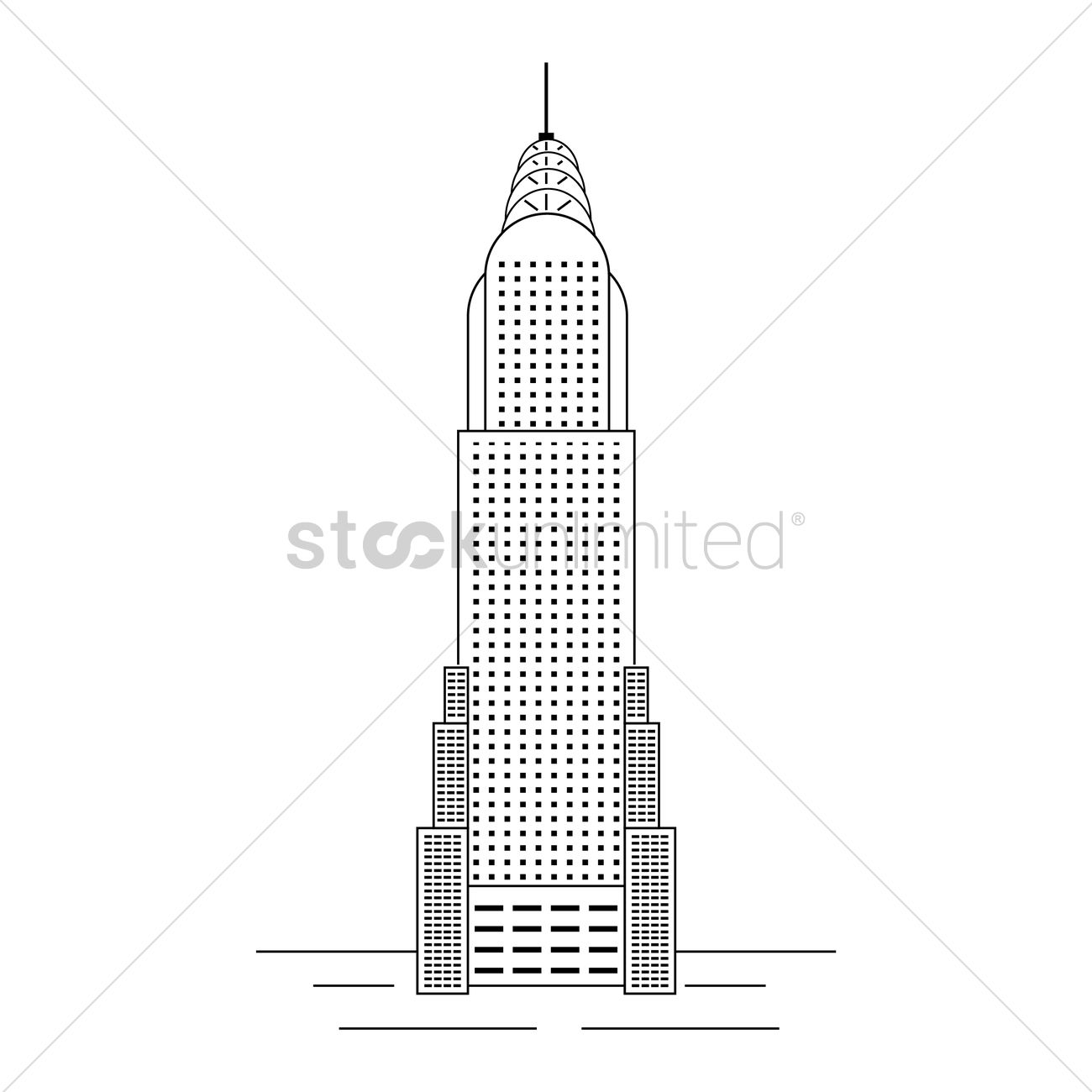 Chrysler building Vector Image.