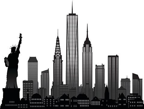 New york buildings clipart.