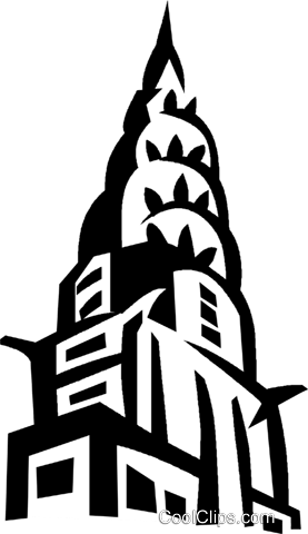 Chrysler Building New York Royalty Free Vector Clip Art.