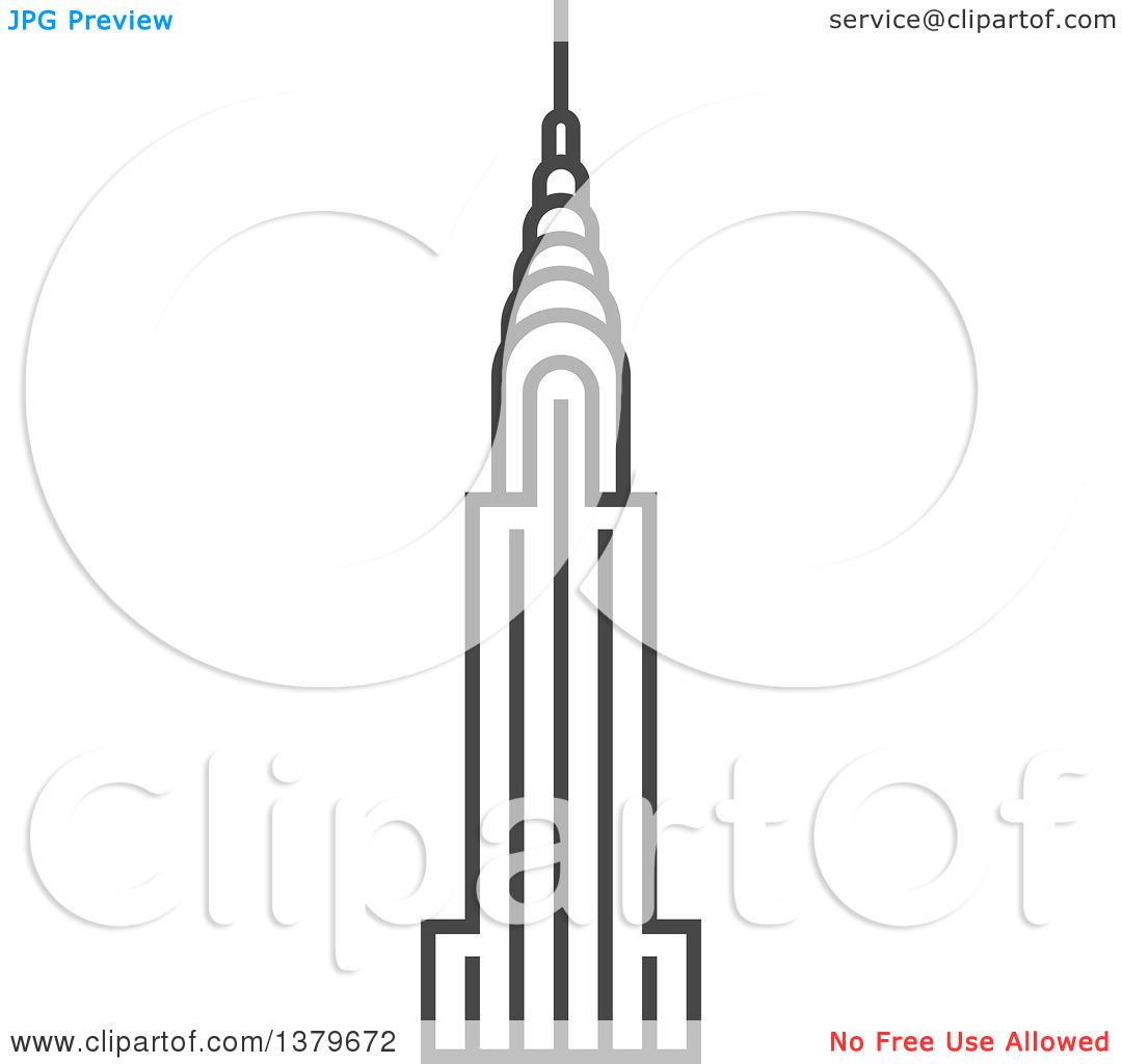 Chrysler building clipart #3