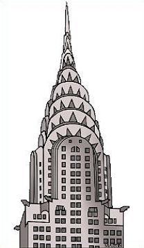 Chrysler building clipart.