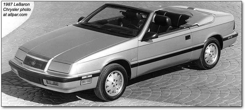 95 Chrysler Lebaron Gtc Convertible.