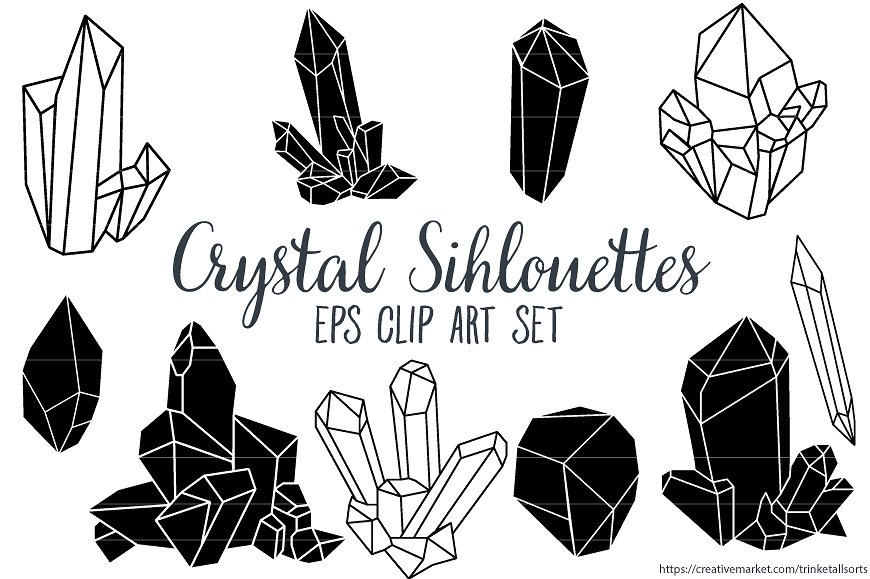 Crystal cluster clipart Photos, Graphics, Fonts, Themes, Templates.