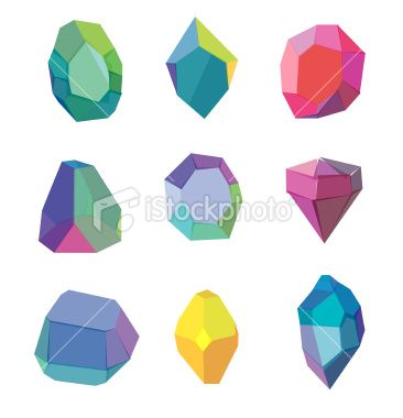 Polygon crystal Royalty Free Stock Vector Art Illustration.