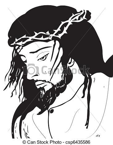 Clip Art Vektor von christus, Jesus.