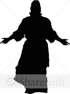 Jesus shadow clipart.