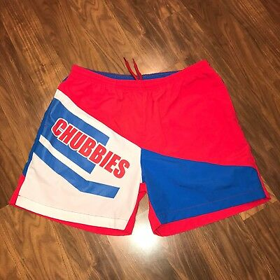 Red Blue CHUBBIES Logo Mens XL Polyester 5\