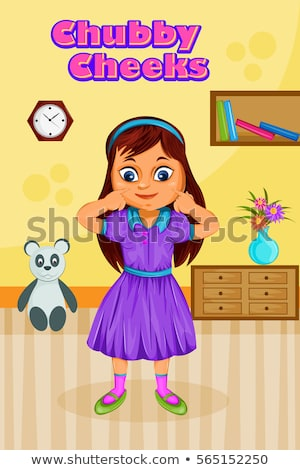 Vector Images, Illustrations and Cliparts: Chubby Cheeks, Kids.