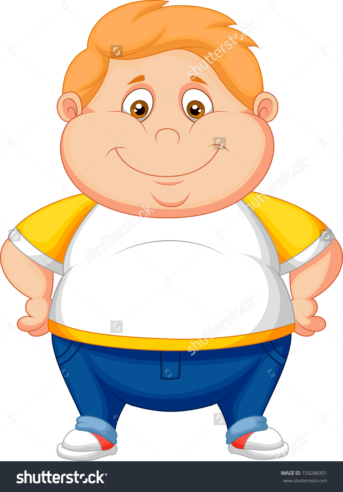 Chubby boy clipart.