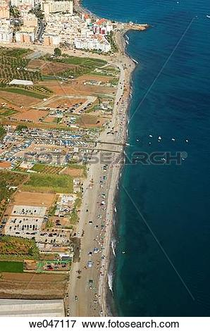 Picture of Aerial view on Chucho beach, Axarqu?a. Costa del Sol.
