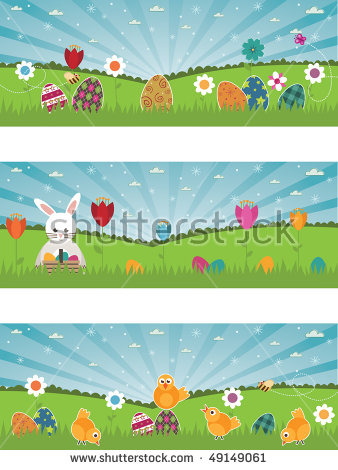 Easter Scene Stock Photos, Royalty.