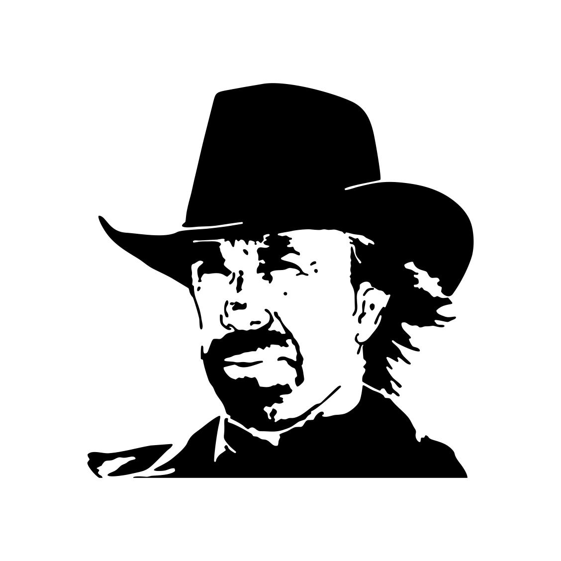 Chuck Norris Texas Cowboy graphics design SVG Vector Art Clipart instant  downloads Digital Cut Print Files shirt Decal cricut.
