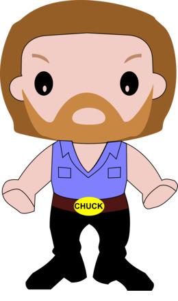 Chuck Norris clipart.