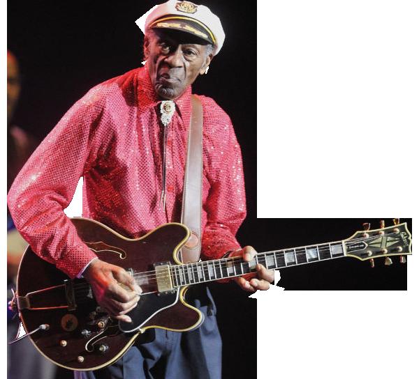 Chuck Berry transparent background image.