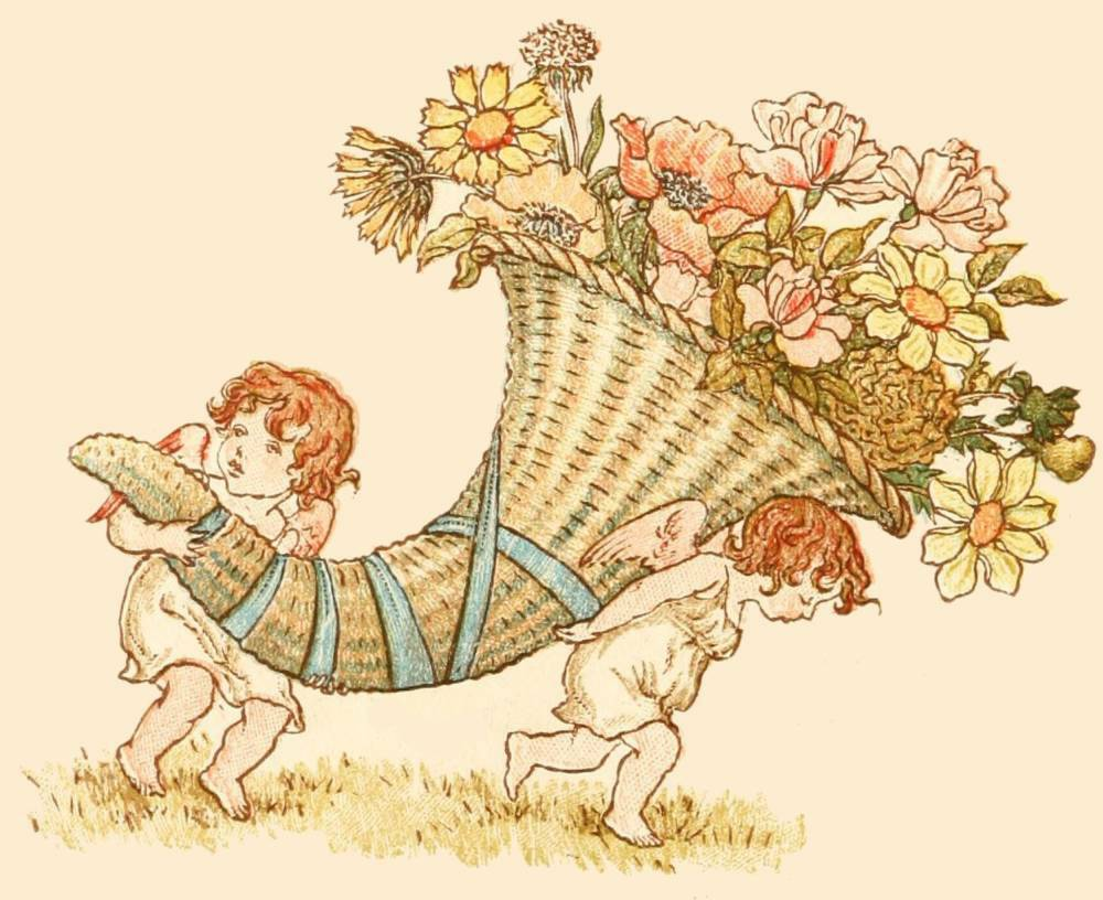 The Project Gutenberg eBook of Language of Flowers, by Kate Greenaway.