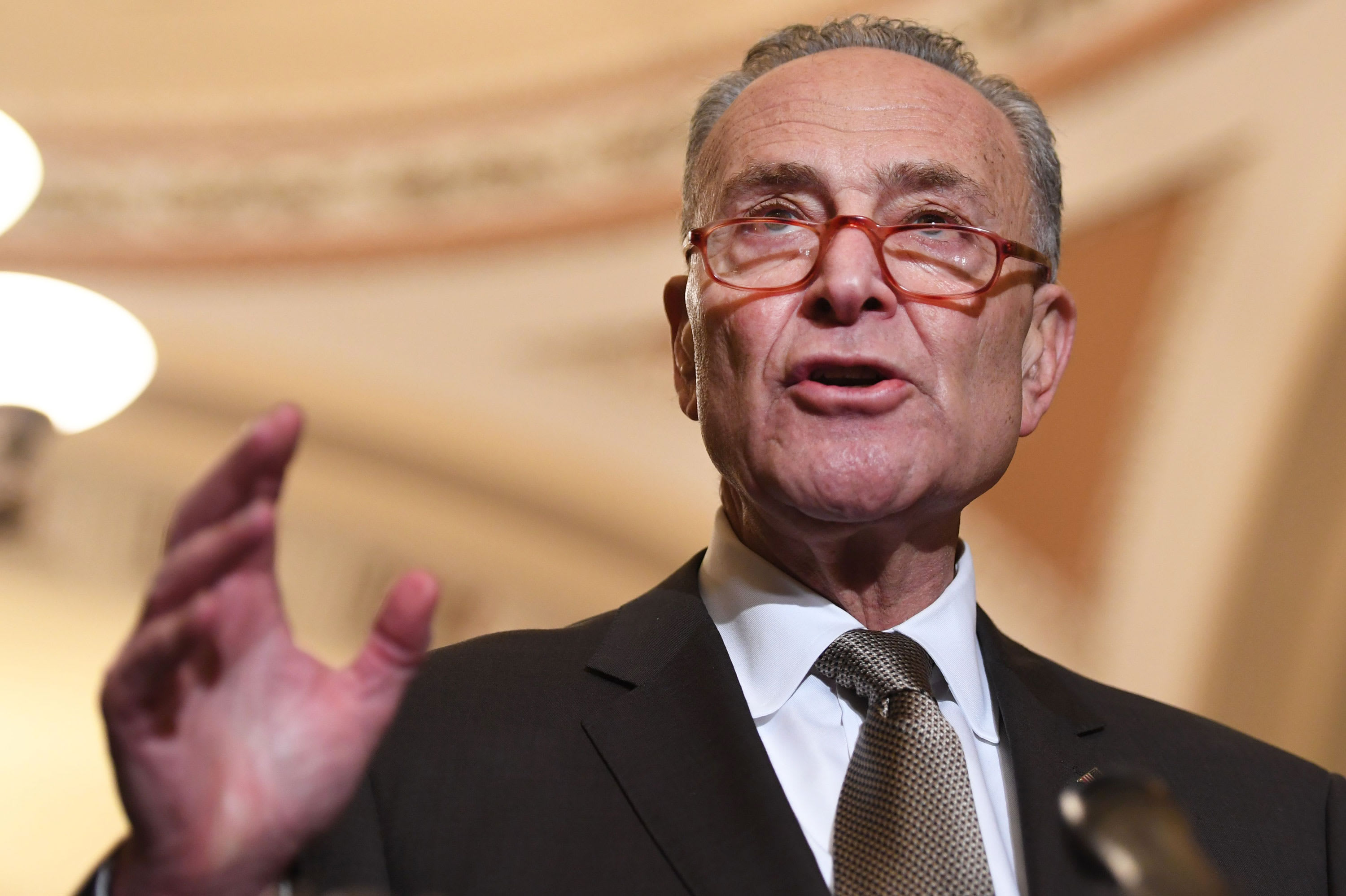Sen. Chuck Schumer: Trump caved with phase one China trade deal.