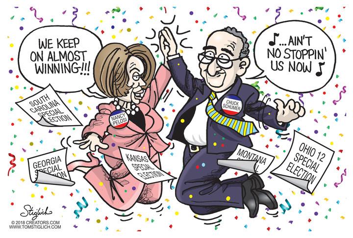 Look At Losers Nancy Pelosi, Chuck Schumer Celebrate Almost.