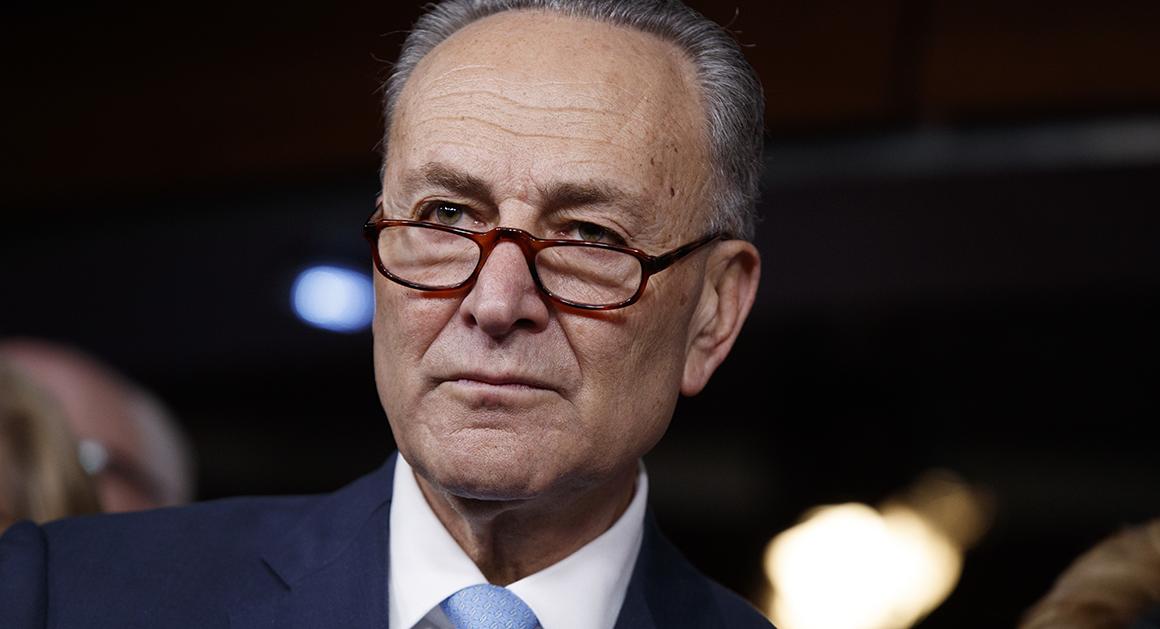 Schumer backs aggressive New York climate change bill.