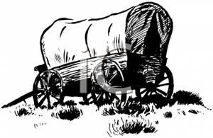Covered wagon clipart free.