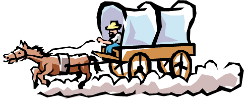 Clip Art Cartoon Wagons Clipart.
