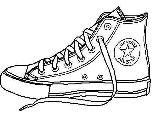 Converse high top clipart.