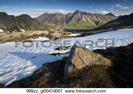 Stock Photography of Scenic landscape of Williwaw Peak and Chugach.