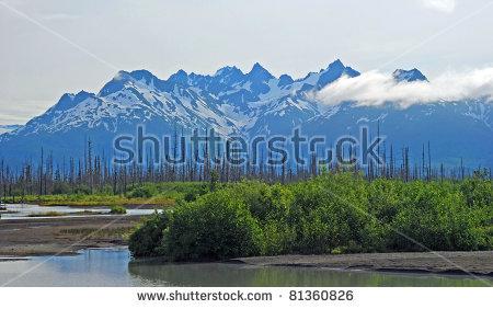 Chugach Mountains Stock Photos, Royalty.