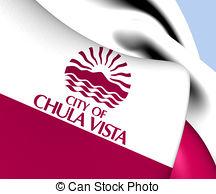 Waving flag of chula vista california usa Clipart and Stock.