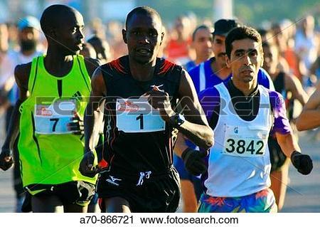 Stock Photography of 19. Marrakesch marathon (Morocco) Sammy.