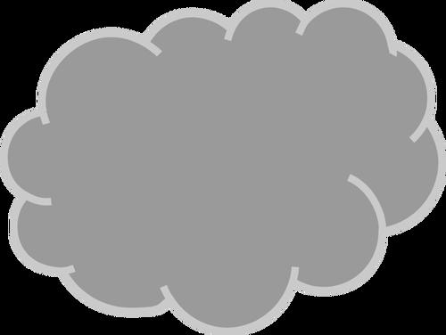 Szare chmury grafika wektorowa.