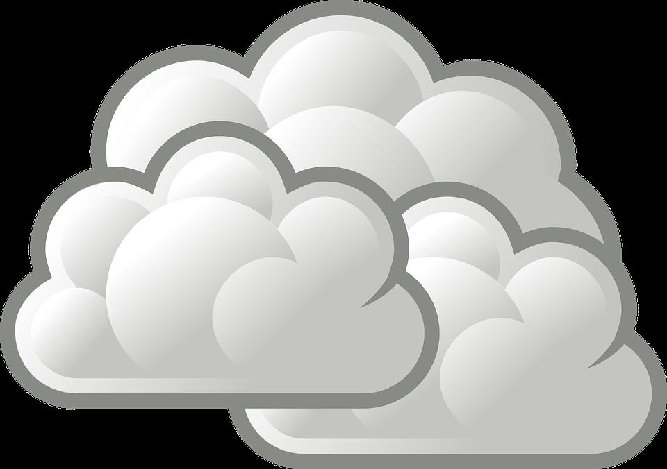 Darmo grafika wektorowa: Chmury, Słabe.