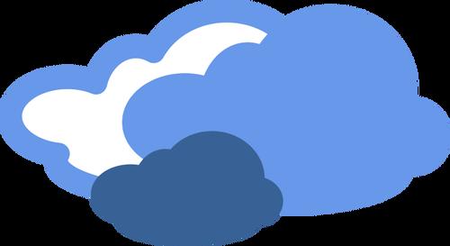 Ciężkie chmury Pogoda symbol wektor wyobrażenie o osobie.