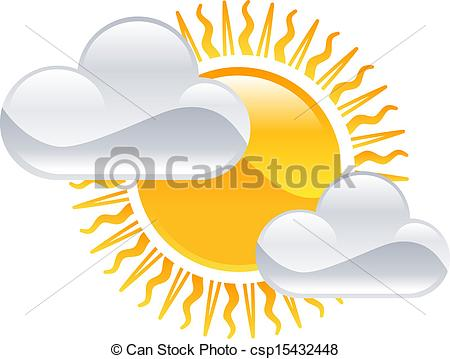 Wektory EPS słońce, pogoda, chmury, Clipart, Ikona.